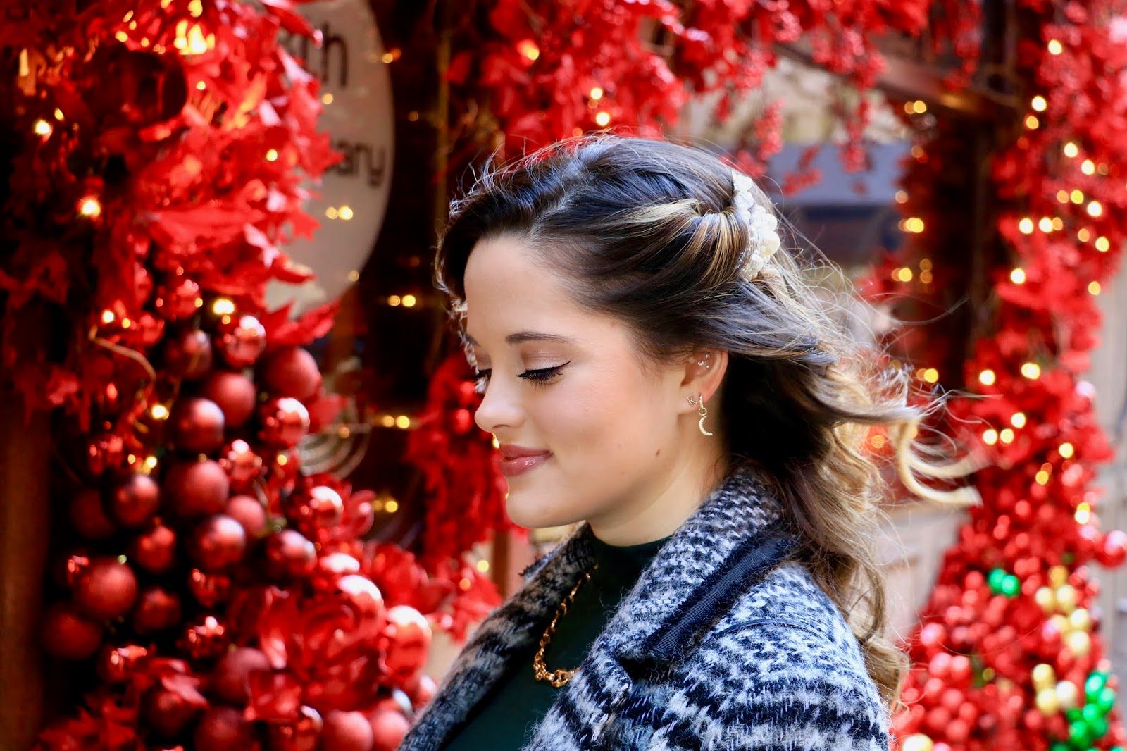 Beauty blogger Kathleen Harper's 2019 holiday hair style.