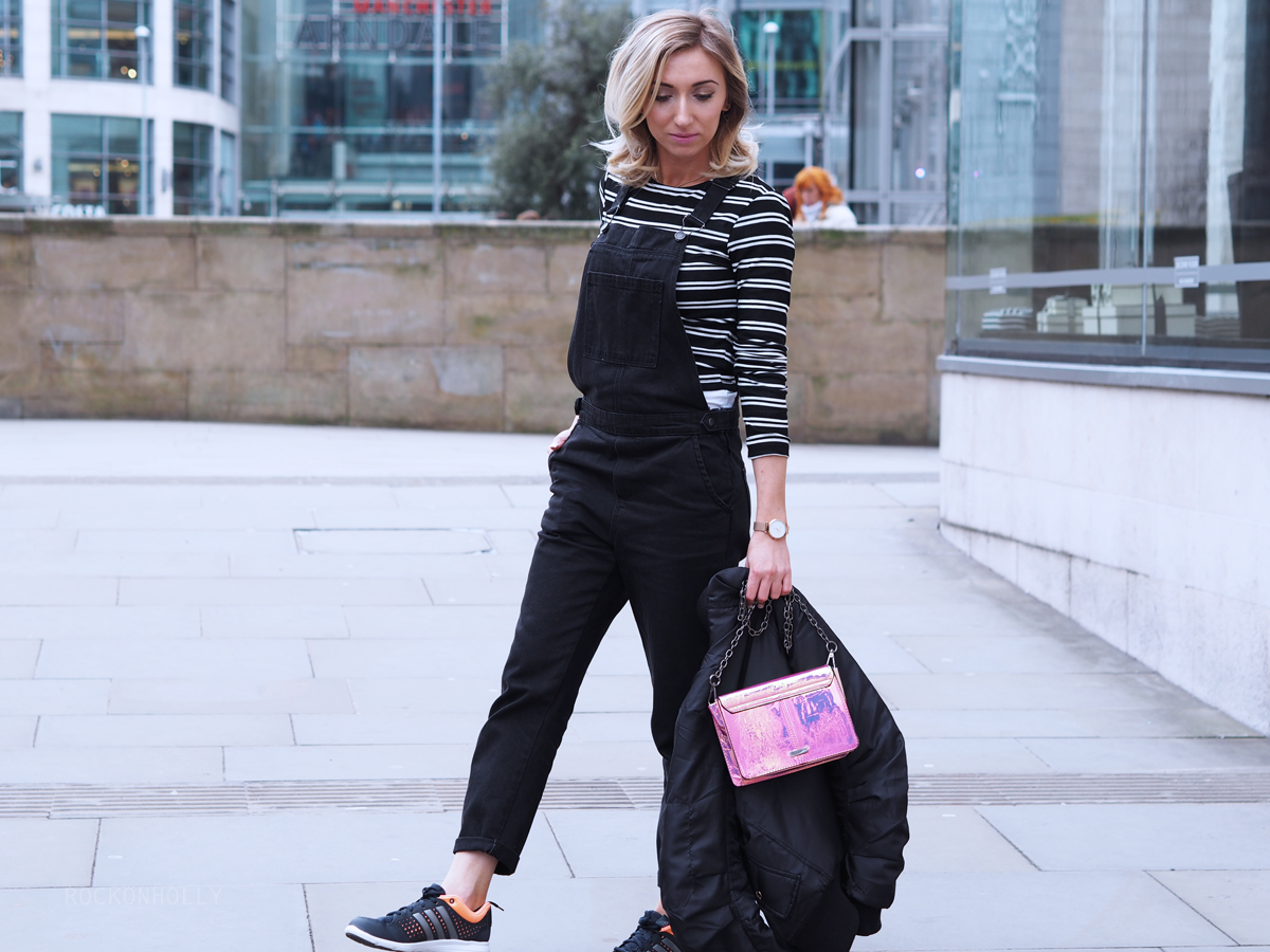 Black Topshop Dungarees - Rock On Holly Blog