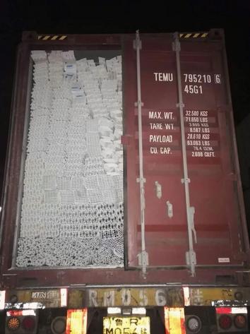 pengiriman kontainer impor upvc dari cina