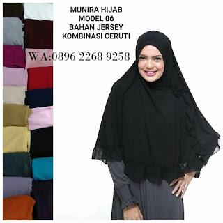 Hijab Munira MD 06 Koleksi hijab syari terbaru dewasa/anak
