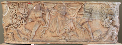 génies ailés, sarcophage, mythologie,