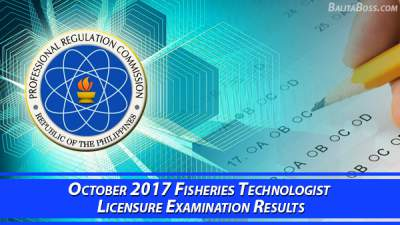 Fisheries Technologist October 2017 Board Exam