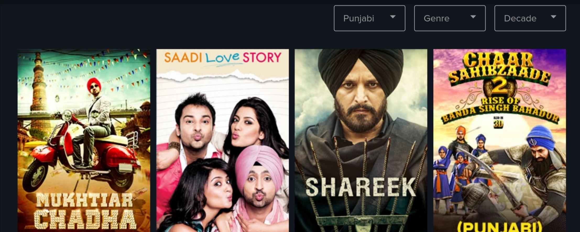 where to watch punjabi movies online