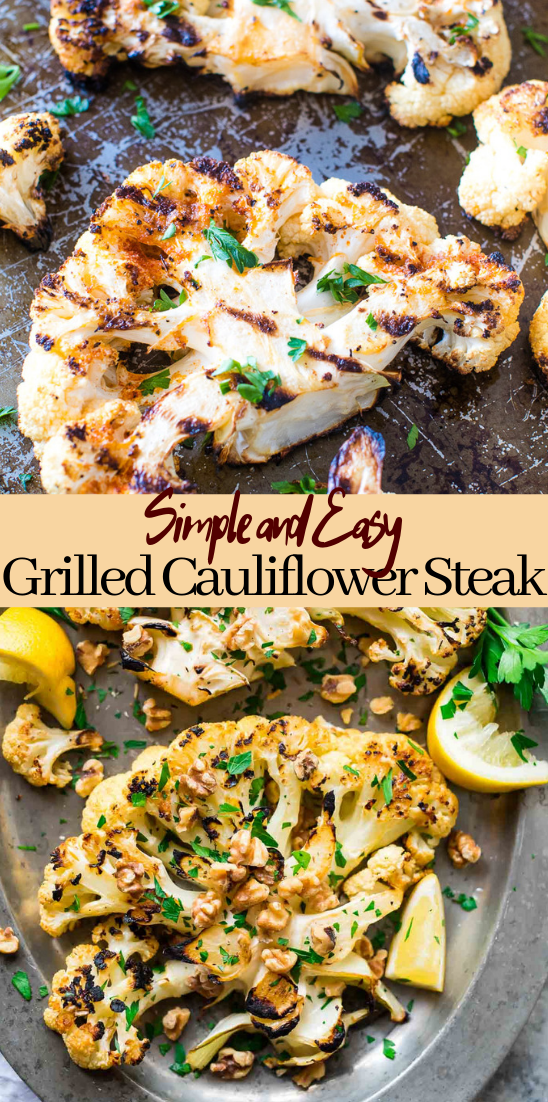 Grilled Cauliflower Steak #vegan #vegetarian #soup #breakfast #lunch
