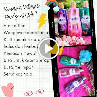 Kenapa memilih Vitalis Perfumed Moisturizing Body Wash