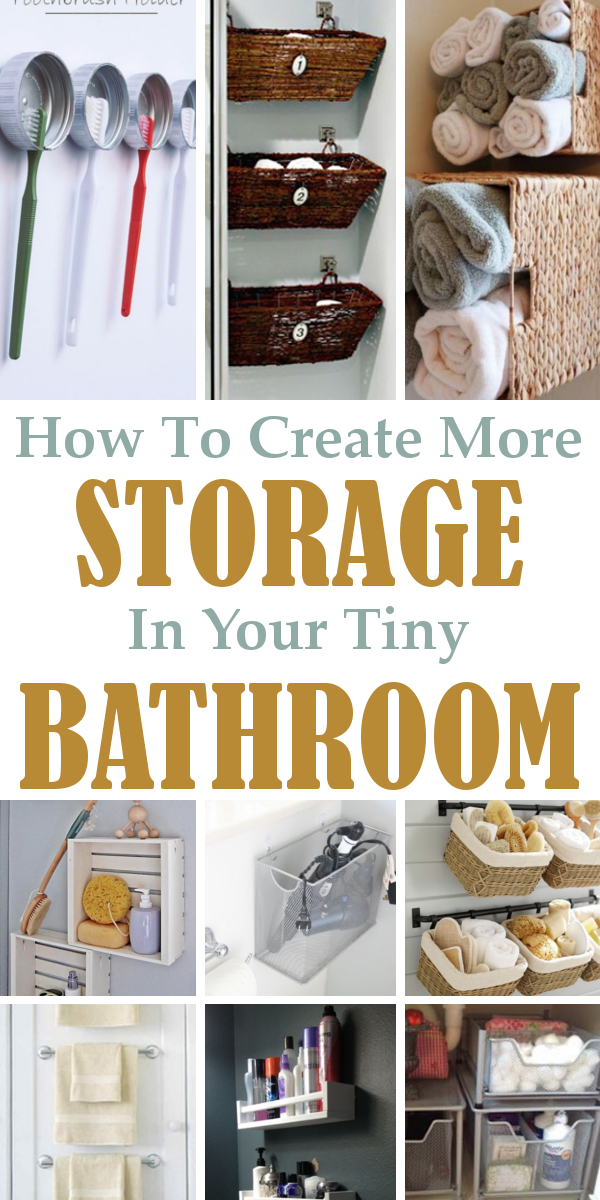 Diy home sweet home 9 ways to create more storage in your tiny bathroom - Ways of creating more storage space in your home ...