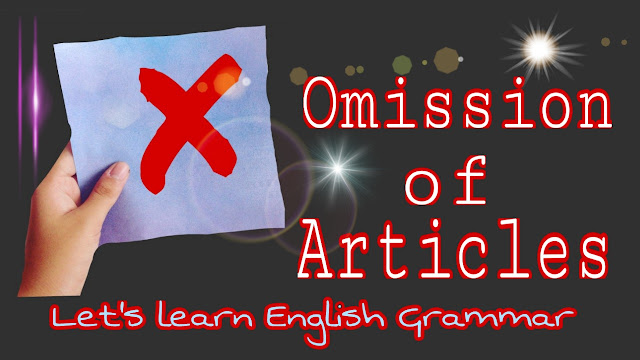 articles omission