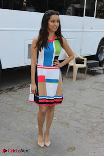 Bollywood Actress Shraddha Kapoor Latest Stills in Colourful Short Dress at OK JAANU Movie Press Conference  0002.jpg