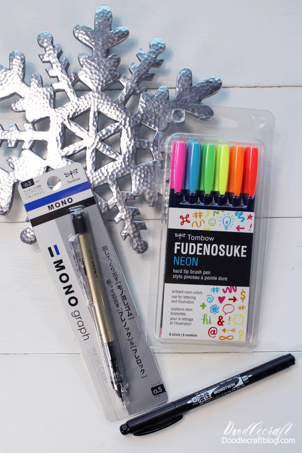 For the Creative, this stocking stuffer haul is awesome! Great for hand lettering too, this has all the options of doodles, journaling, notes and more!