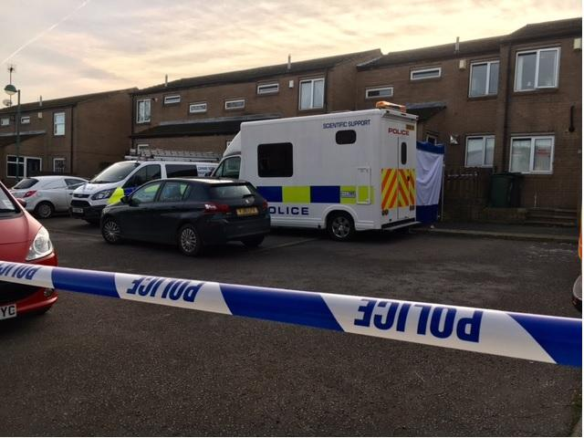 Two men held on suspicion of murder after woman's body found at house in Bankholme Court, Holme Wood, Bradford