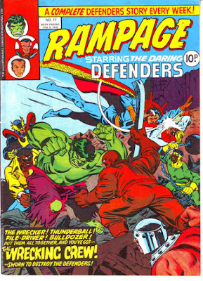 Marvel UK, Rampage #17, the Defenders vs the Wrecking Crew