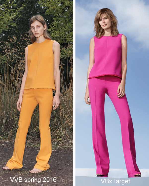 Victoria Beckham for Target Fuchsia top and flared pants