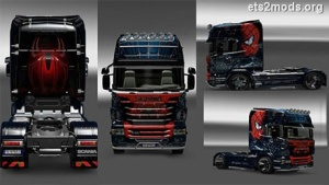 Scania R Spiderman skin