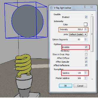 Cara Membuat Cahaya Lampu Bohlam Led Philips di Vray Sketchup