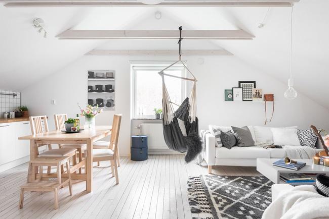 Salón y cocina en el mismo espacio