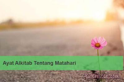 ayat alkitab tentang matahari terbit dan terbenam