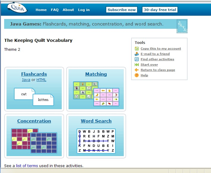 HTS 3rd Grade Technology Blog Vocabulary for the Keeping