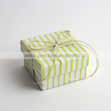 Striped favor boxes for baptism