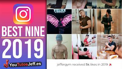 como hacer best nine instagram