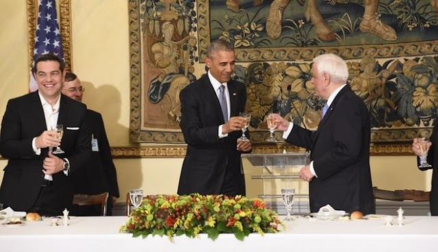 Ομπάμα στην Αθήνα: Δείπνο στο Προεδρικό Μέγαρο με εξαιρετική ομιλία του Προκόπη Παυλόπουλου στον Μπαράκ Ομπάμα.... (βίντεο)