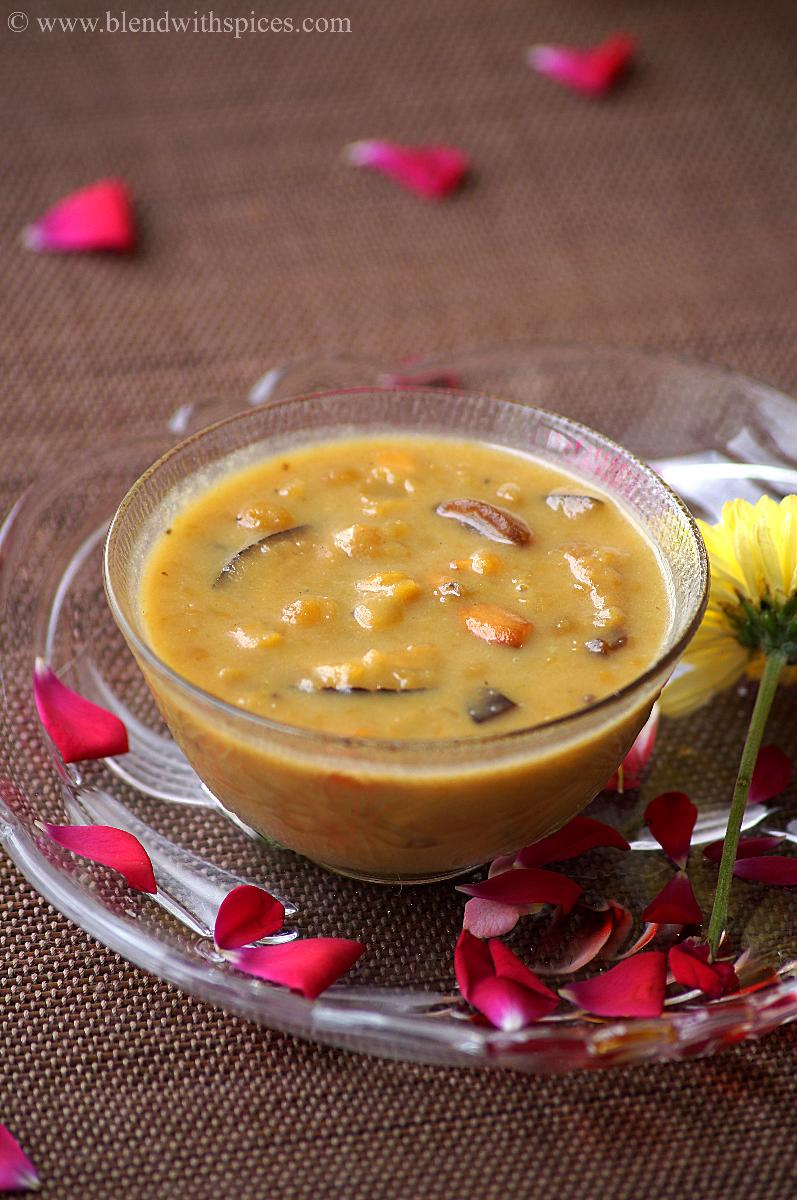 chana dal payasam recipe, how to make senagapappu payasam recipe
