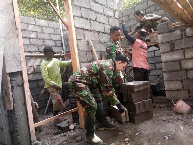 KodimKaranganyar - RTLH Salah Satu Sasaran Fisik TMMD Sengkuyung Tahap III Kodim 0727 Karanganyar