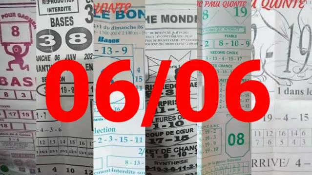 Pronostics quinté+ pmu dimanche Paris-Turf TV 06/06/2021