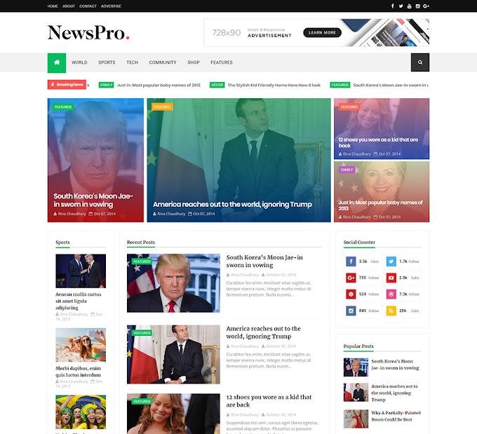 Newspro Premium Version Blogger Theme