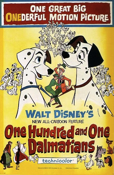 The Disney Films One Hundred And One Dalmatians 1961
