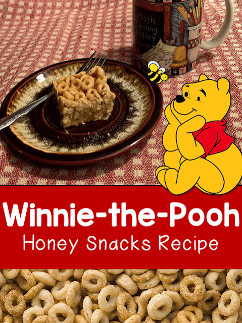 January 18th is National Winnie the Pooh Day. Celebrate this fun day with this honey snacks recipe. Peanut butter, honey, Cheerios, sugar, and peanuts