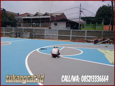 Cat Lapangan Basket Sekolah SMPN 164 Kebayoran 1