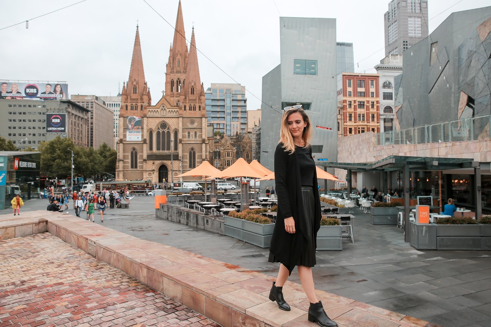 Alicia Mara at Federation Square, Travel Guide