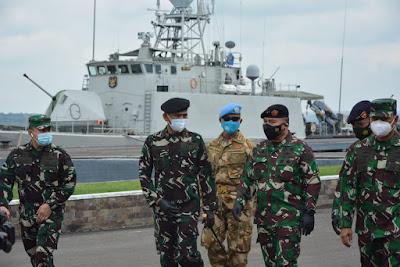 Asops Panglima TNI Periksa Kesiapan Satgas MTF Kontingen Garuda XXVIII-M/UNIFIL