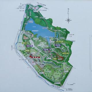山田池公園案内図