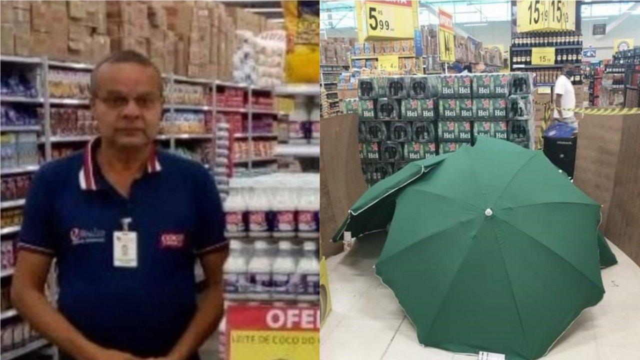 Trabalhador morre no Carrefour, corpo é coberto e loja continua aberta normalmente