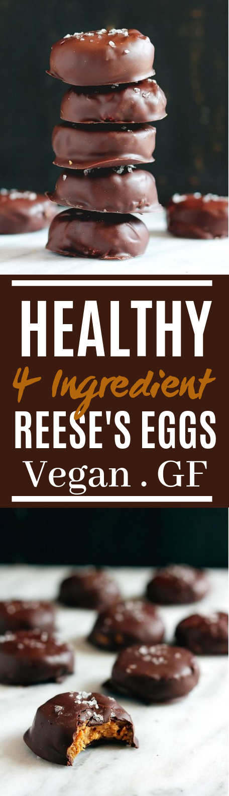 Healthy 4 Ingredient Reese's Eggs #vegetarian #glutenfree