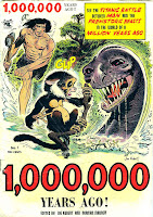 One Million Years Ago v1 #1 st john golden age comic book cover art by Joe Kubert