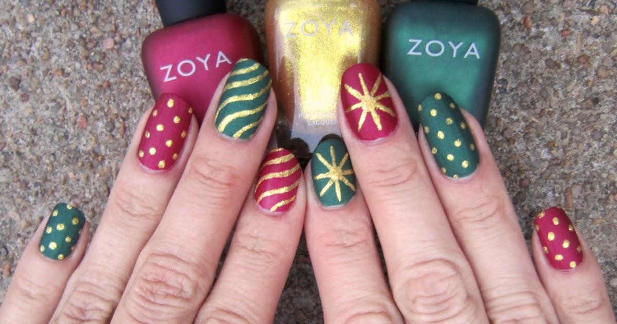 Concrete And Nail Polish Matte Christmas Nails With Zoya