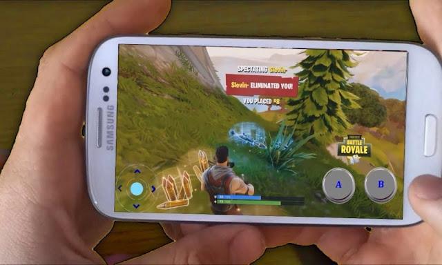 Fortnite Battle Royale su un dispositivo Android