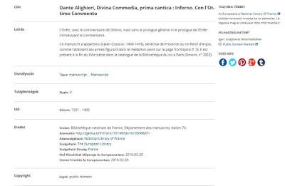 Europeana tétel+adatok