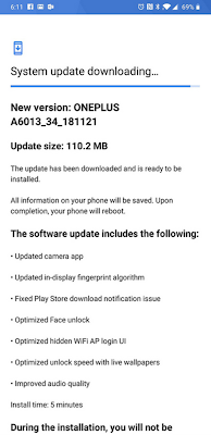 OnePlus 6T for T-Mobile receives software update