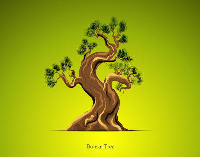 bonsai en vector