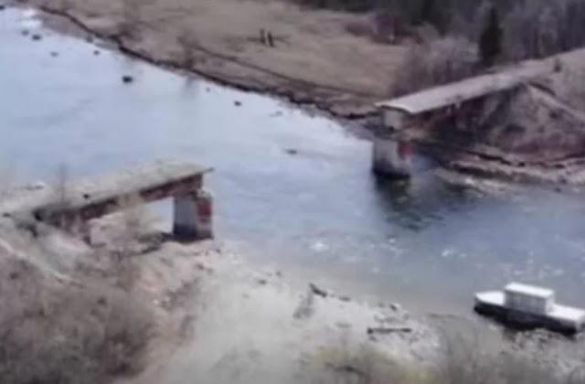 एक रात में गायब हुआ पुल का हिस्सा, वायल तस्वीरों ने फैलाई सनसनी