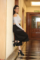 Manjusha in sleevelss crop top and black skirt at Darshakudu pre release ~  Exclusive Celebrities Galleries 041.JPG