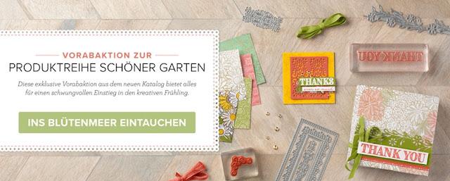 Stampin Up Vorabaktion Produktreihe Schöner Garten