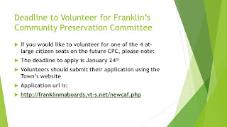 Community Preservation Committee seeks At-Large Candidates - application deadline, Sunday - Jan 24, 2021
