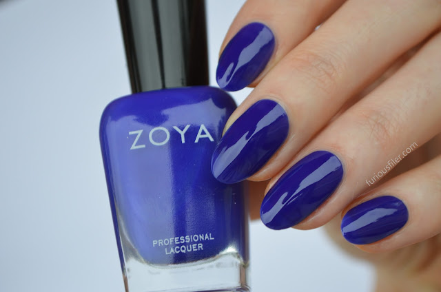 zoya mirajane swatch neon blue furious filer