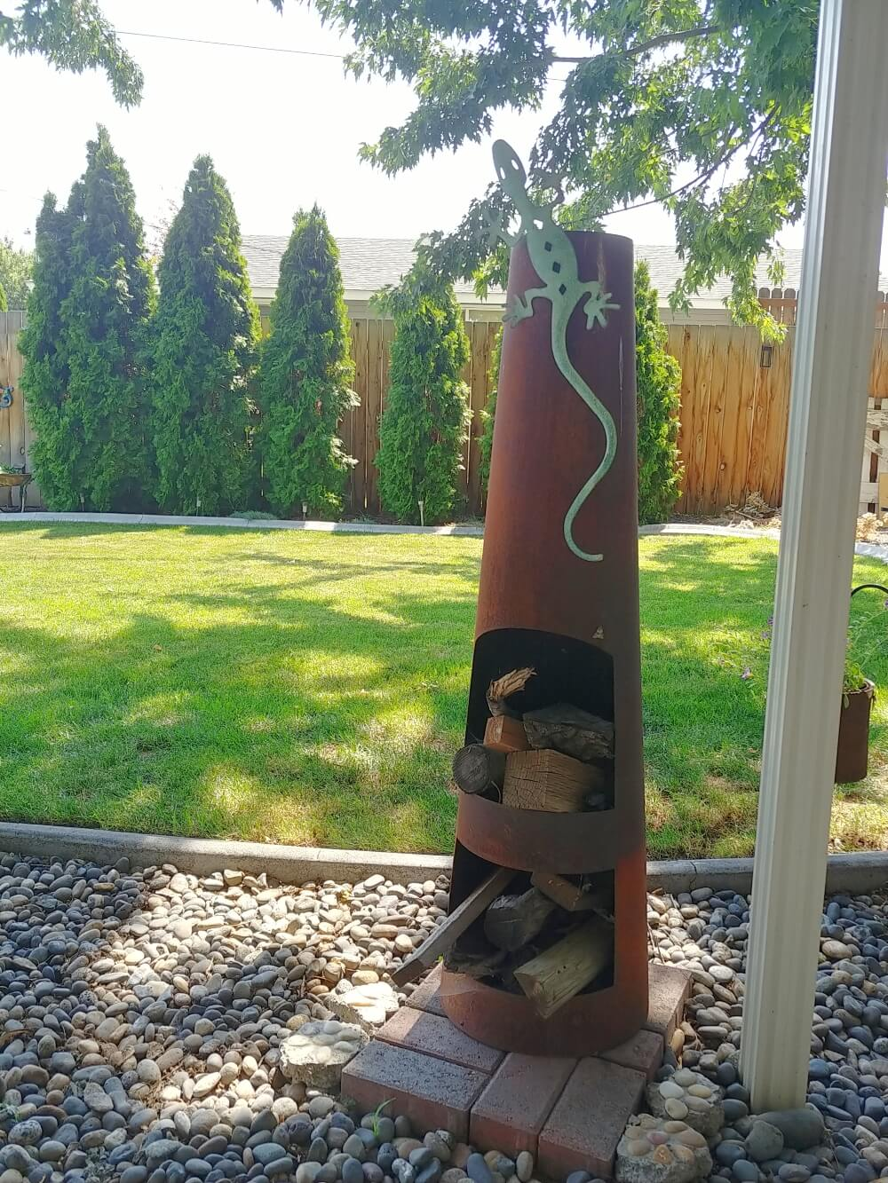 chiminea new placement