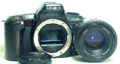 Minolta Alpha Sweet (Black) Body #449, Maxxum AF 50mm 1:1.7 RS #836