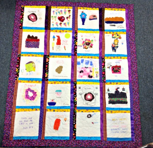 How to make a kid art collage quilt